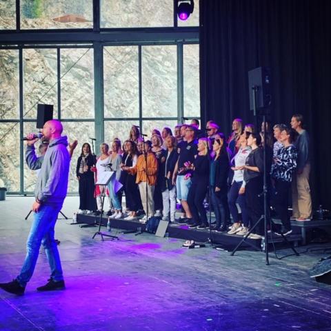 Alexander Lycke repar inför 2019 års konsert på Dalhalla.