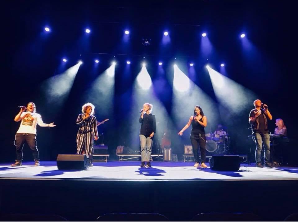 Soundcheck inför turnépremiär i Falun 2018.